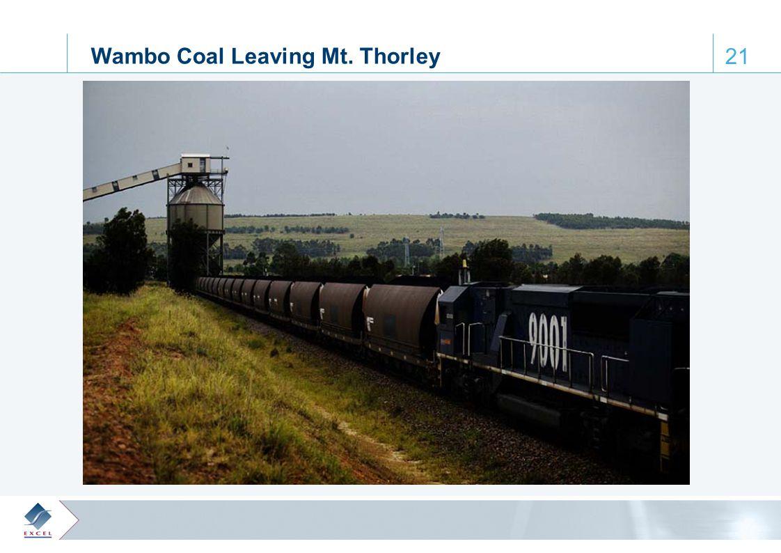 0, 61, 110 65, 172, 223 122, 28, 61 164, 188, 205 64, 103, 129 21 Wambo Coal Leaving Mt. Thorley
