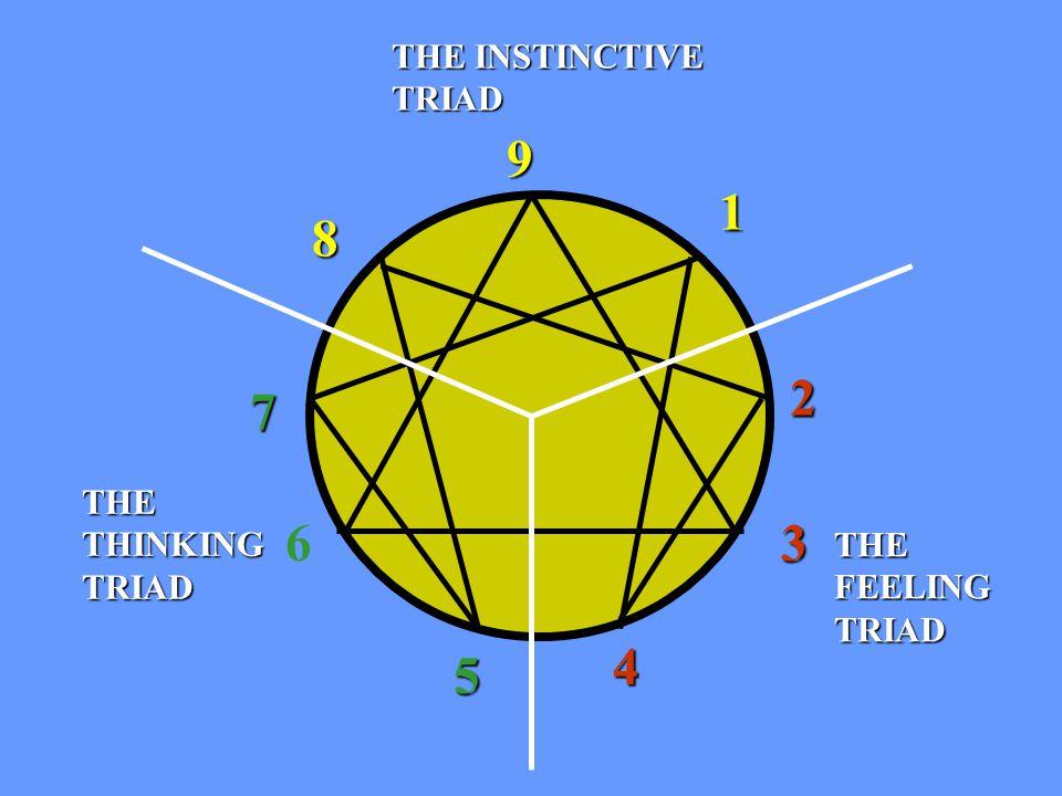 1 9 8 7 6 5 4 2 3 THE THINKING TRIAD THE FEELING TRIAD THE INSTINCTIVE TRIAD