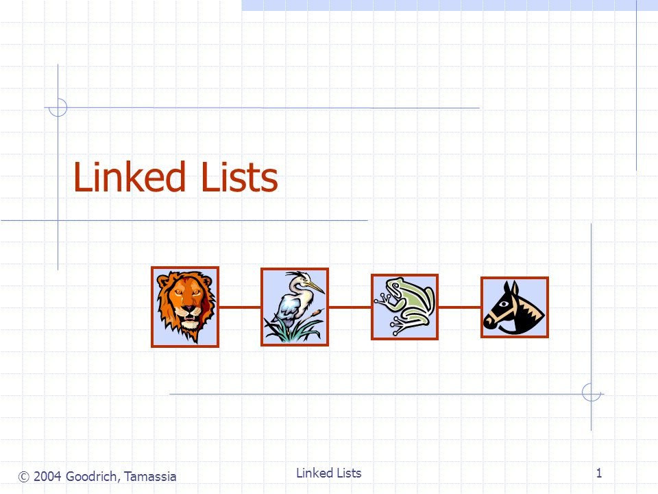 © 2004 Goodrich, Tamassia Linked Lists1