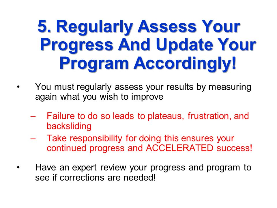 4.Take ACTION And Start Your Program Now.