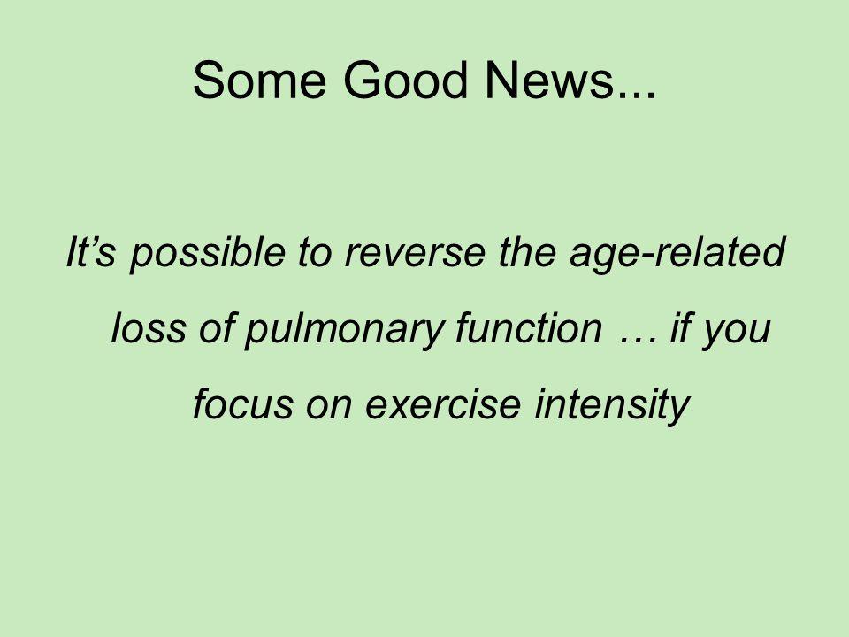 Some Good News...