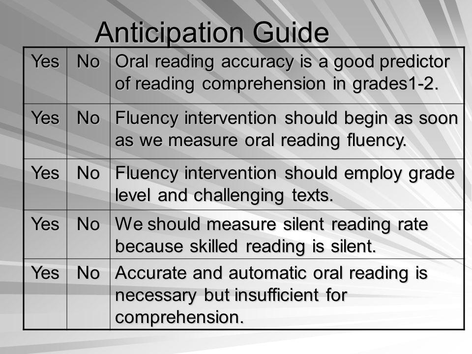 In GARF, how is fluency measured.