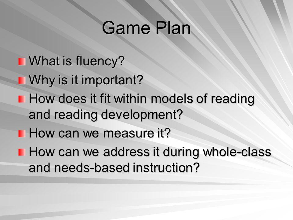 Fluency What is fluency?