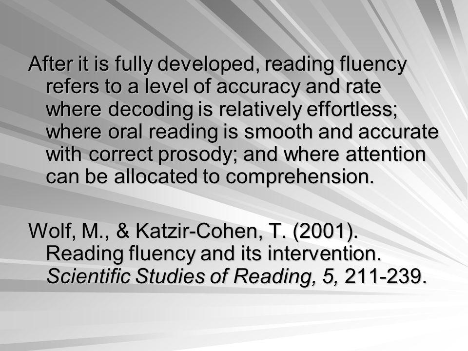 How should we measure fluency?