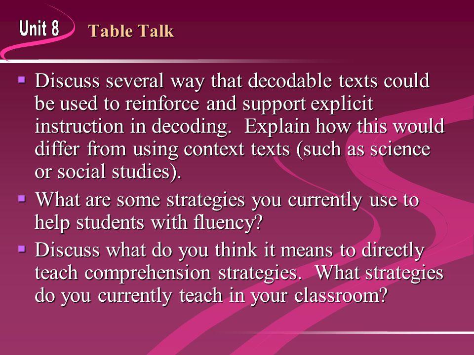 Fluency Practice: Text level  Choose passage on instructional level.