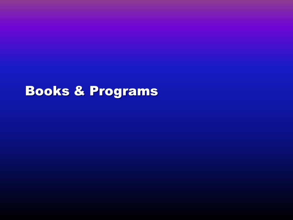Books & Programs