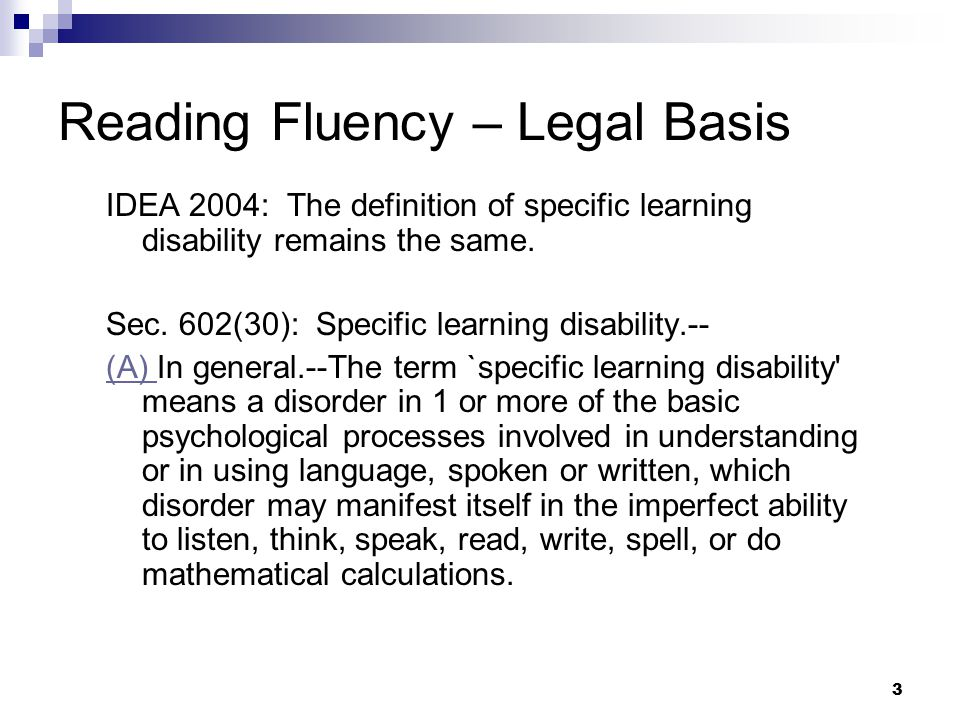 14 Assessing Reading Fluency & Applying WI Criteria for Specific Learning Disability