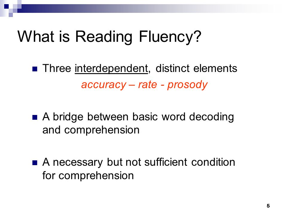 16 Assessing Reading Fluency To assess rate and accuracy, can use a subtest, but a cluster score from a normative instrument is preferred Use a standard score just as you would with any other area of SLD.