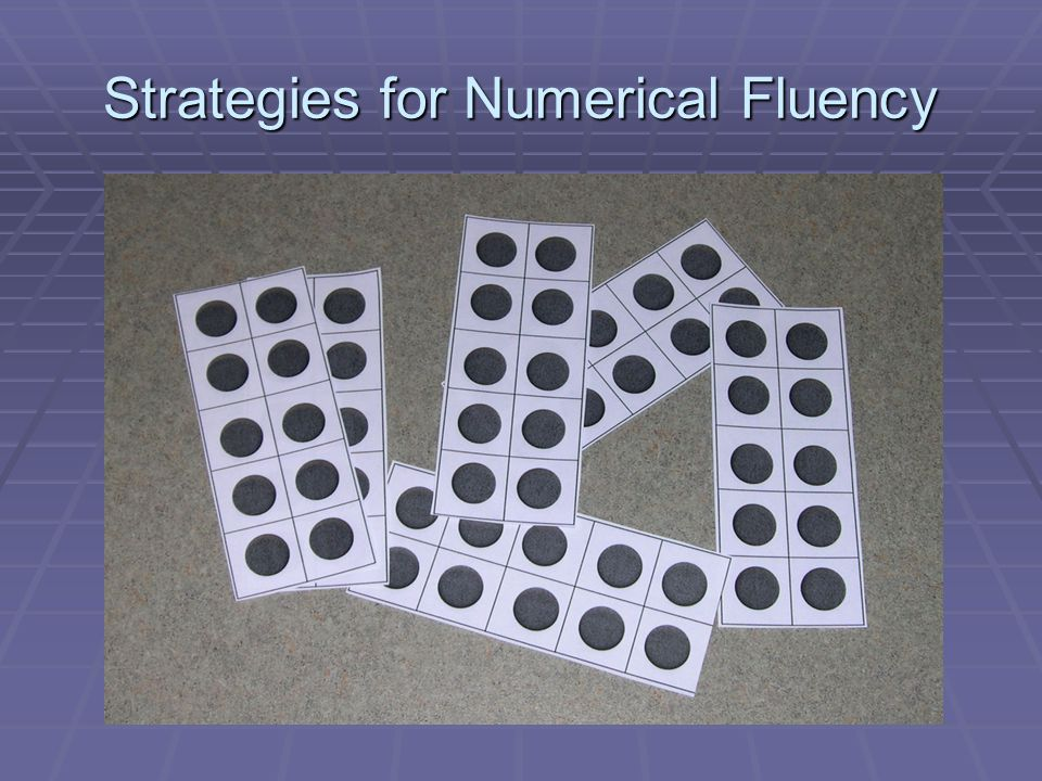 Strategies for Numerical Fluency