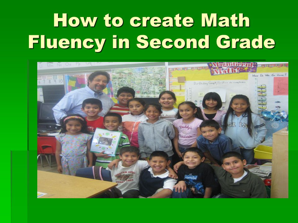 How to create Math Fluency in Second Grade
