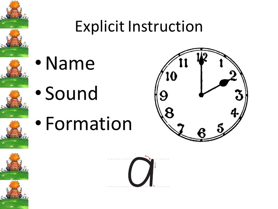 Explicit Instruction Name Sound Formation