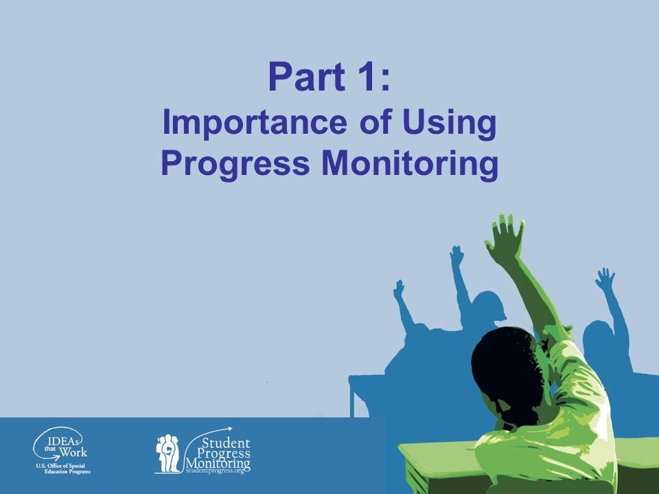 Part 1: Importance of Using Progress Monitoring