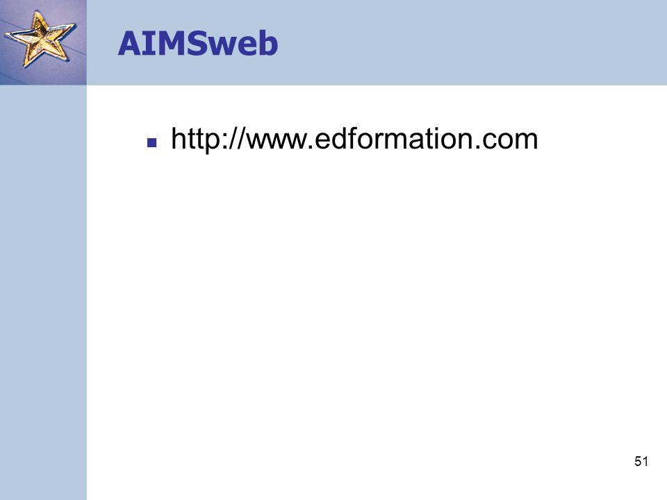 51 AIMSweb http://www.edformation.com