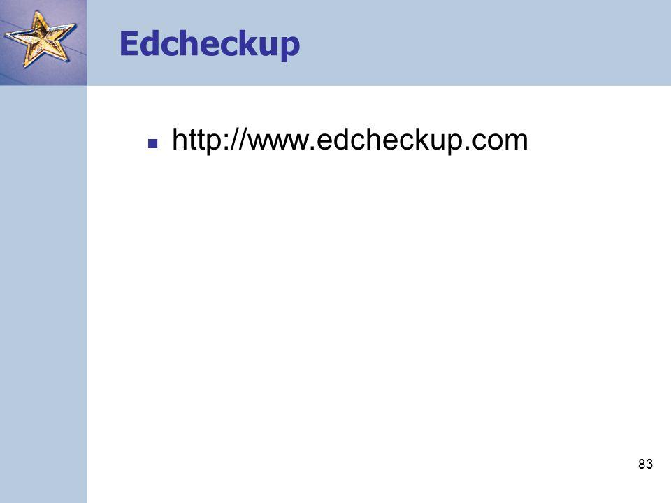 83 Edcheckup http://www.edcheckup.com