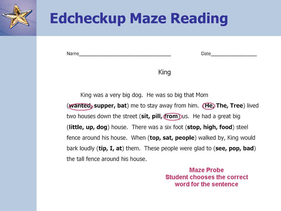 88 Edcheckup Maze Reading