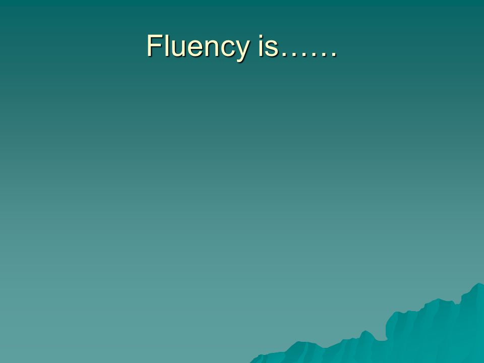 The fluency connection to reading proficiency..