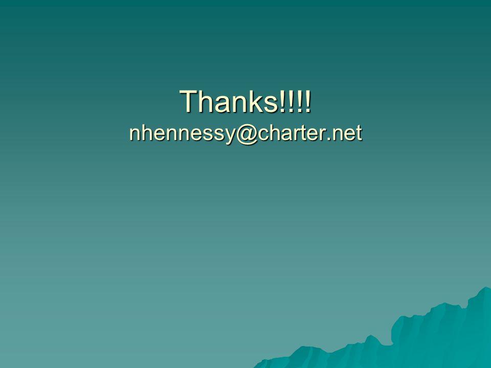Thanks!!!! nhennessy@charter.net