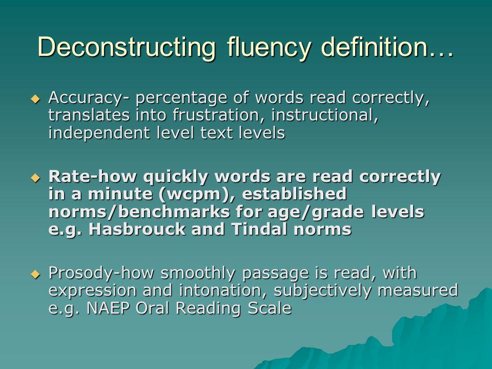 The fluent reader…..