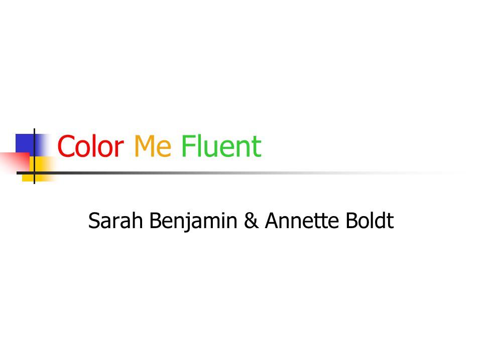 Color Me Fluent Sarah Benjamin & Annette Boldt