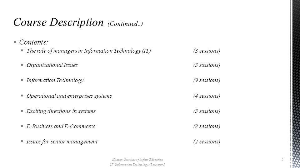  Database management  Data Modeling ::ERD Khatam Institute of higher Education IT (Information Technology), Session# 5 53