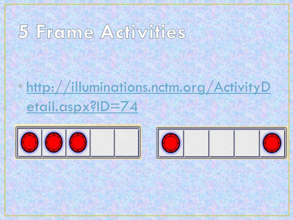 http://illuminations.nctm.org/ActivityD etail.aspx?ID=74 http://illuminations.nctm.org/ActivityD etail.aspx?ID=74