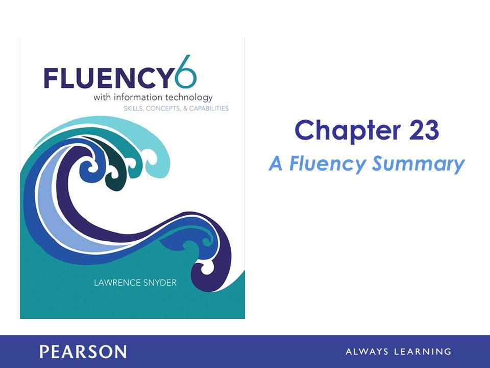 Chapter 23 A Fluency Summary