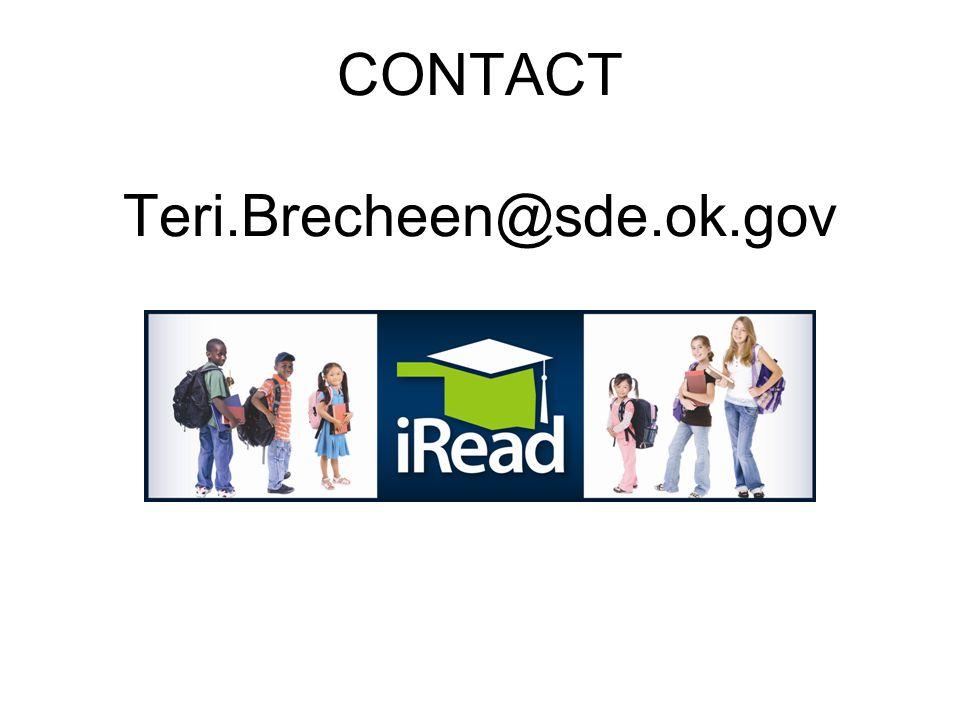 CONTACT Teri.Brecheen@sde.ok.gov