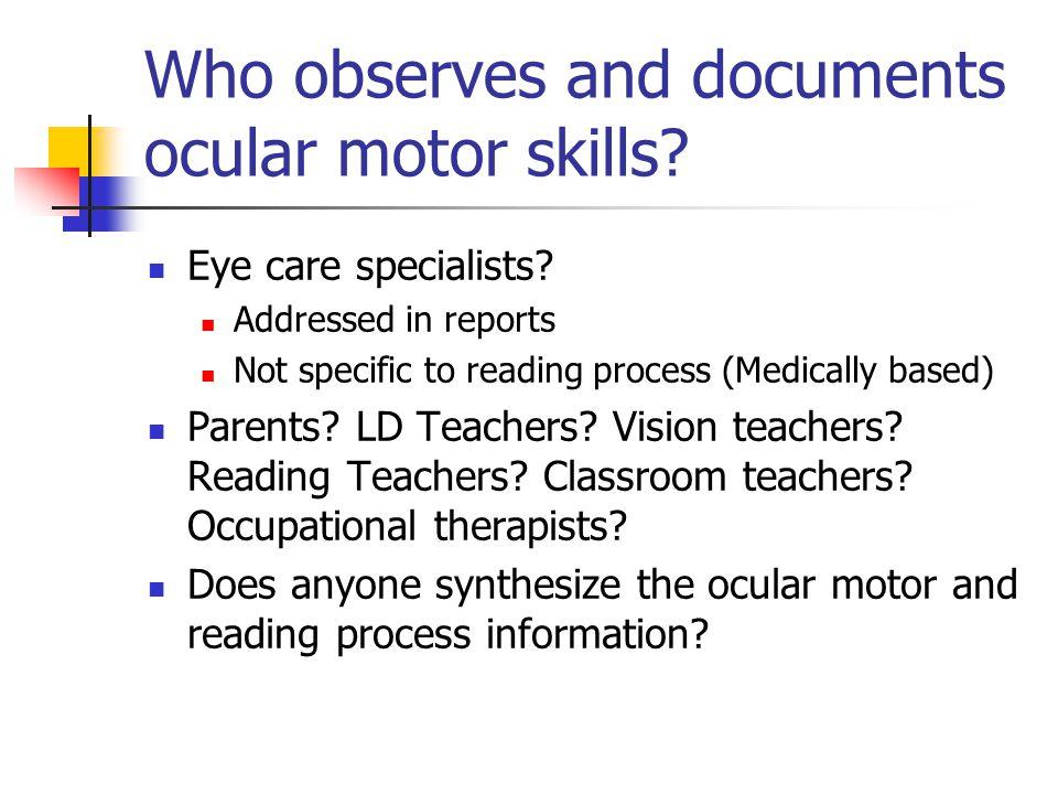 Ocular motor stress symptoms Intermittent blurred vision Diplopia Visual fatigue Orbital aching Eyes burning Headaches