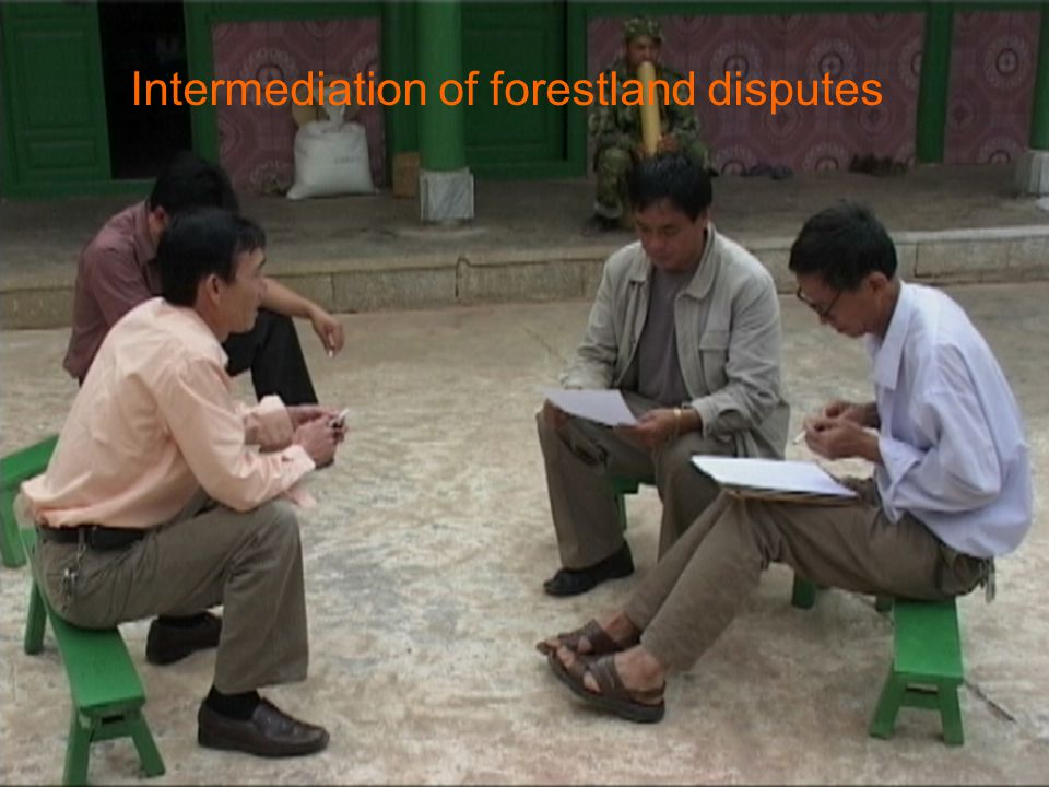 Intermediation of forestland disputes