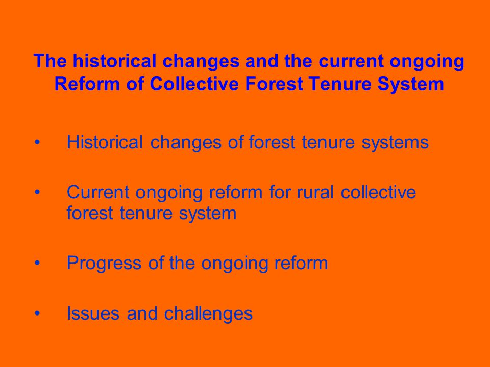 Example 4: Nanhua County Forest management has been improved with clear tenure rights and responsibilities.