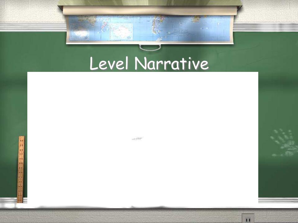 Level Narrative