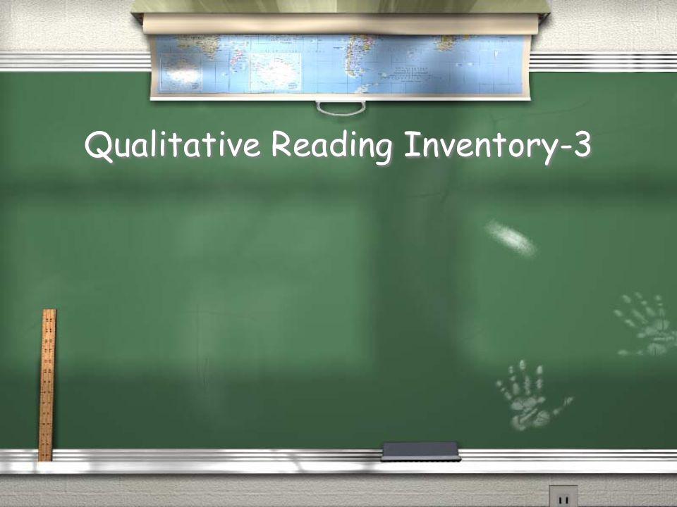 Qualitative Reading Inventory-3