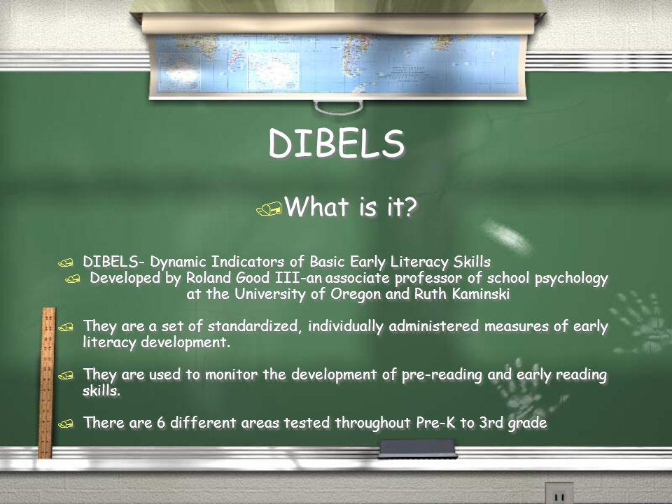 DIBELS / What is it.