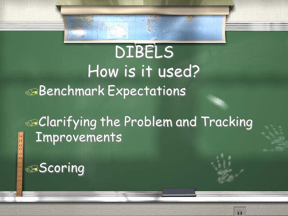 DIBELS How is it used.