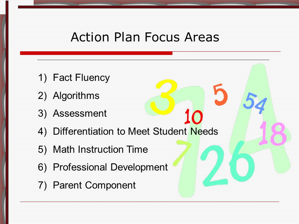 Fluency, as used in Principles and Standards (NCTM), includes three ideas: Efficiency is the ability to: Carry out a strategy easily Keep track of sub-problems Use intermediate steps to solve the problem Accuracy involves: Careful recording Knowledge of basic facts Method for checking Flexibility includes: Knowledge of more than one approach Ability to choose the most appropriate strategy Use of one strategy to solve; and one to double check Fluency