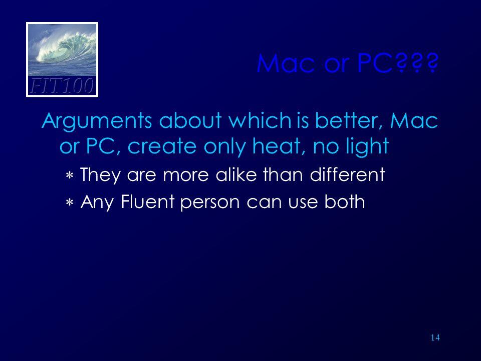 14 Mac or PC .