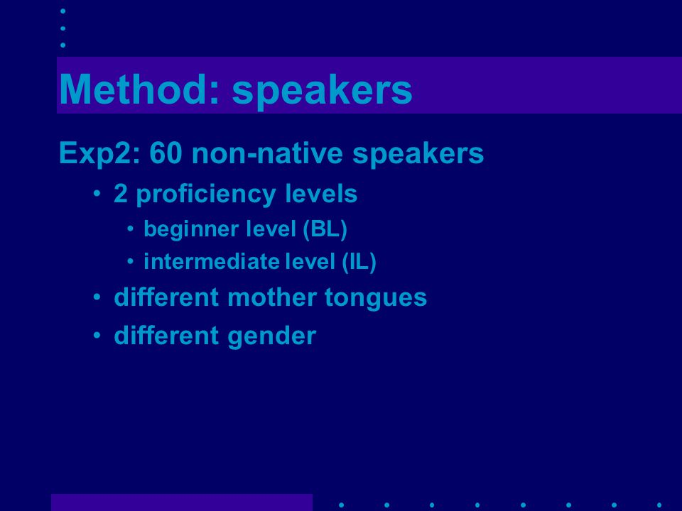 Conclusions Read speech: fluency scores strongly related to art and pause frequency Spontaneous speech: fluency scores strongly related to pause frequency and distribution Expert fluency ratings can be predicted more accurately on the basis of objective measures in rs than in ss
