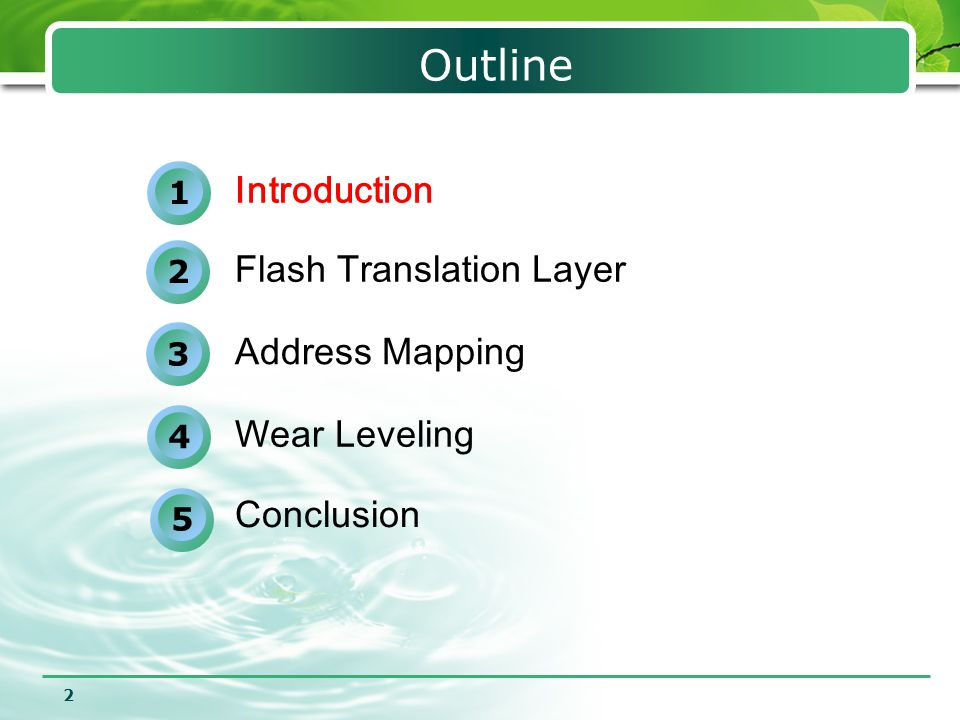 13 DFTL Divided flash memory into MBA and DBA  MBA--Store the full mapping table on flash  DBA—Store user data Use page-level mapping Dynamically swap page-level mapping entries in/out SRAM