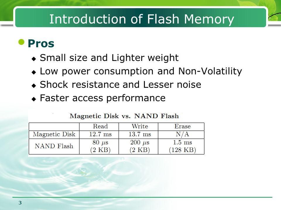 4 flash memory chip OOB  ECC(Hamming Code)  Logical page number  State: erased/valid/invalid DATA OOB