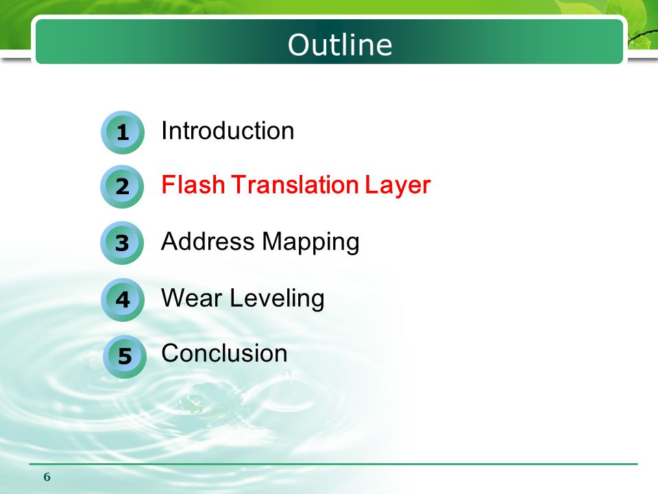 7 Flash Translation Layer Function  Address mapping  Garbage collection(block reclamation)  Wear-leveling