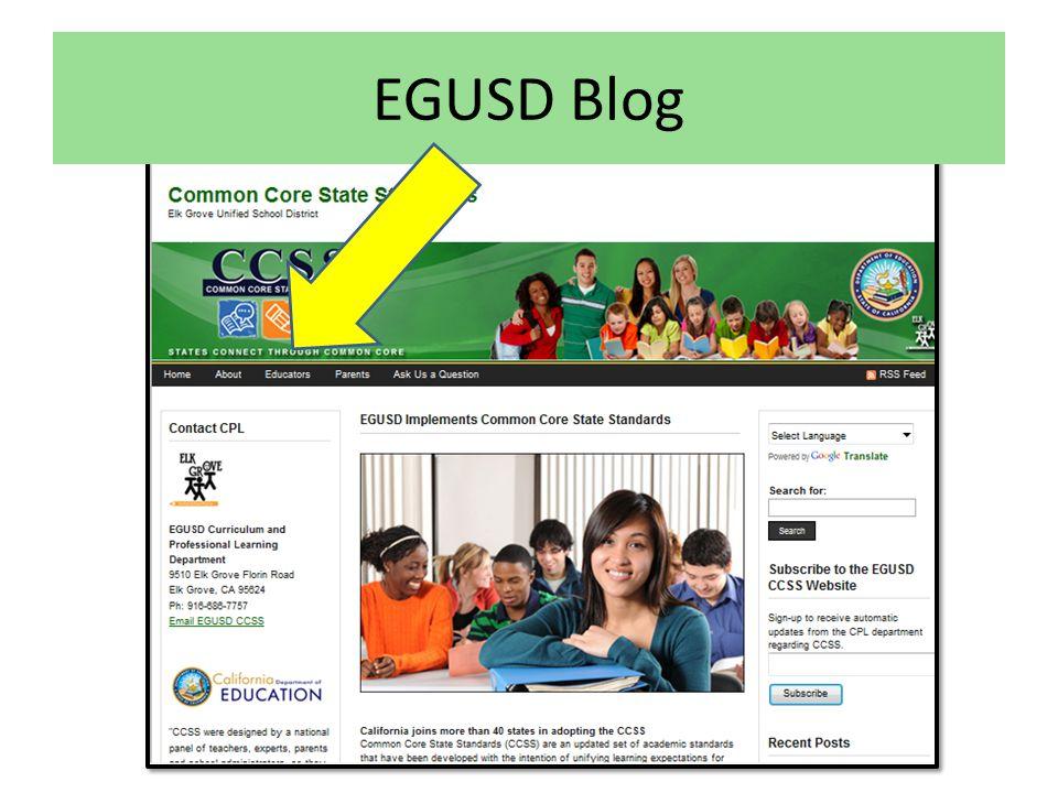EGUSD Blog