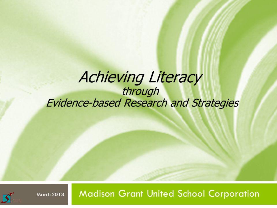 Madison Grant United School Corporation March 2013