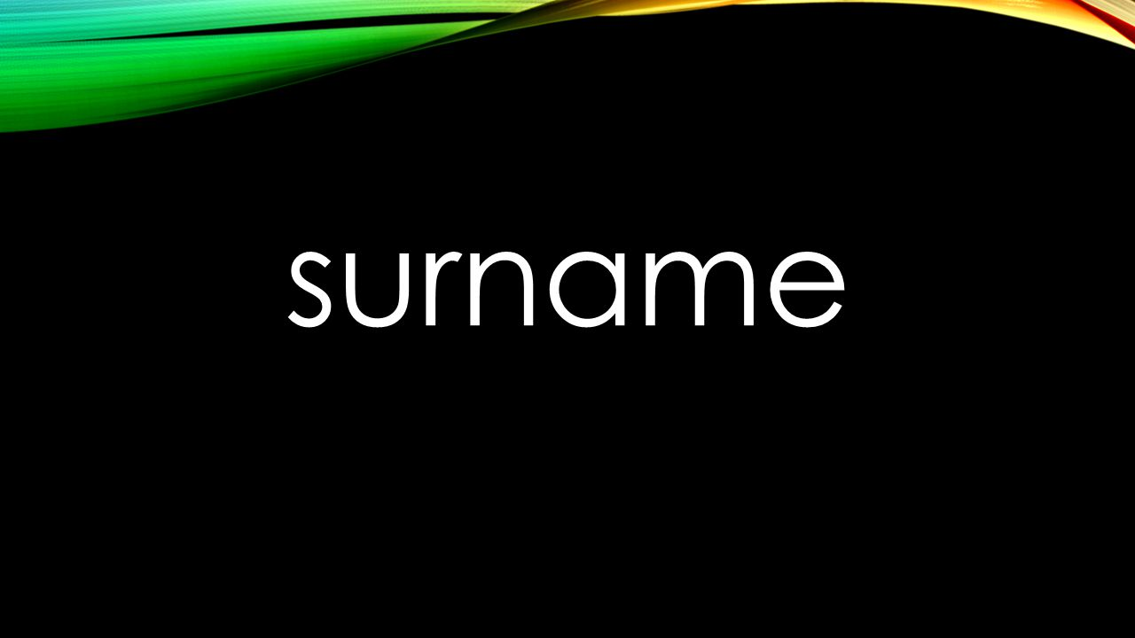 surname
