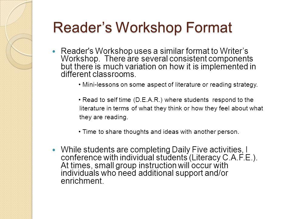 What is Reader's Workshop.