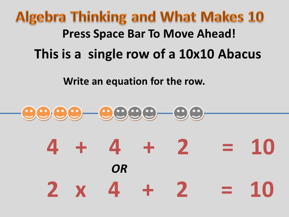 Write an equation for the row.