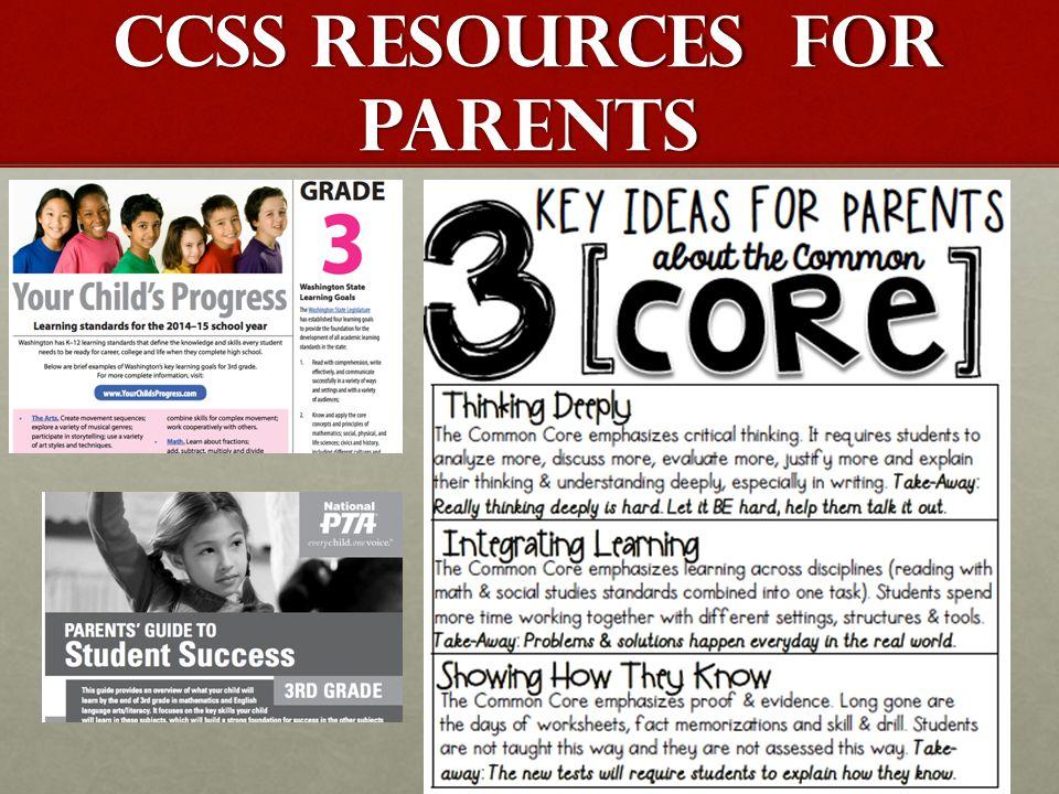 CCSS RESOURCES FOR PARENTS