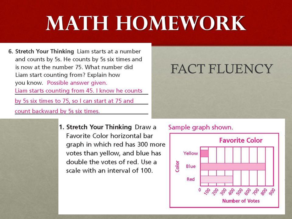 MATH homework FACT FLUENCY