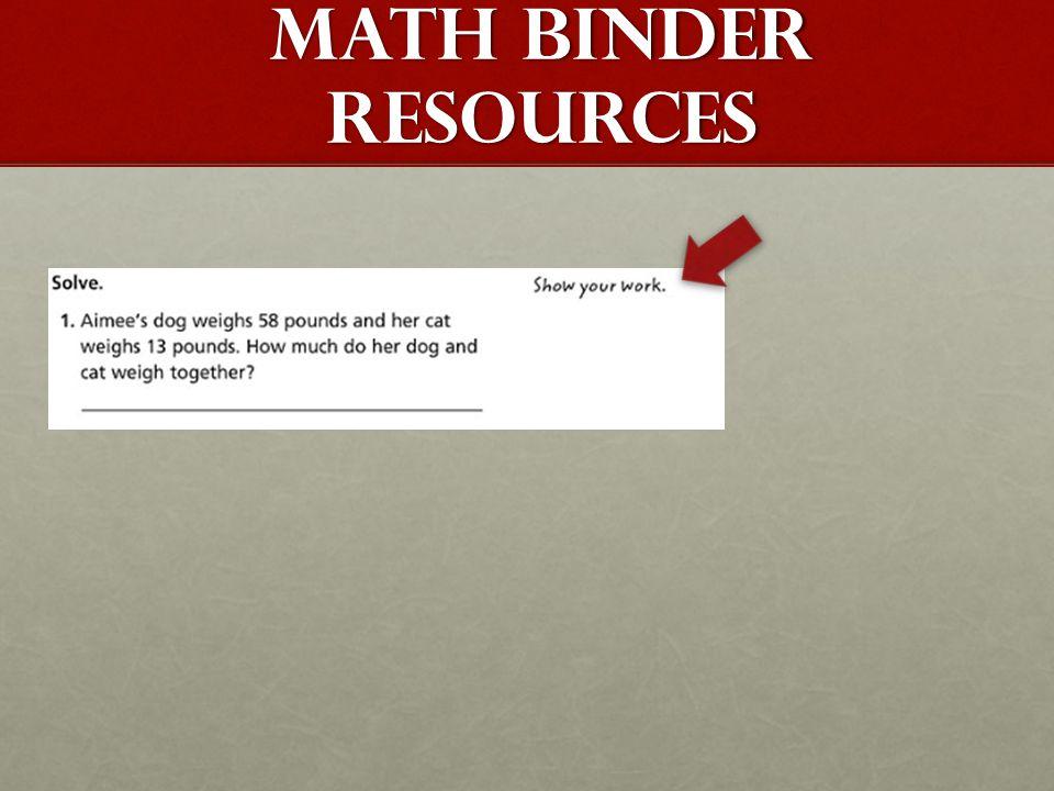 MATH BINDER RESOURCES