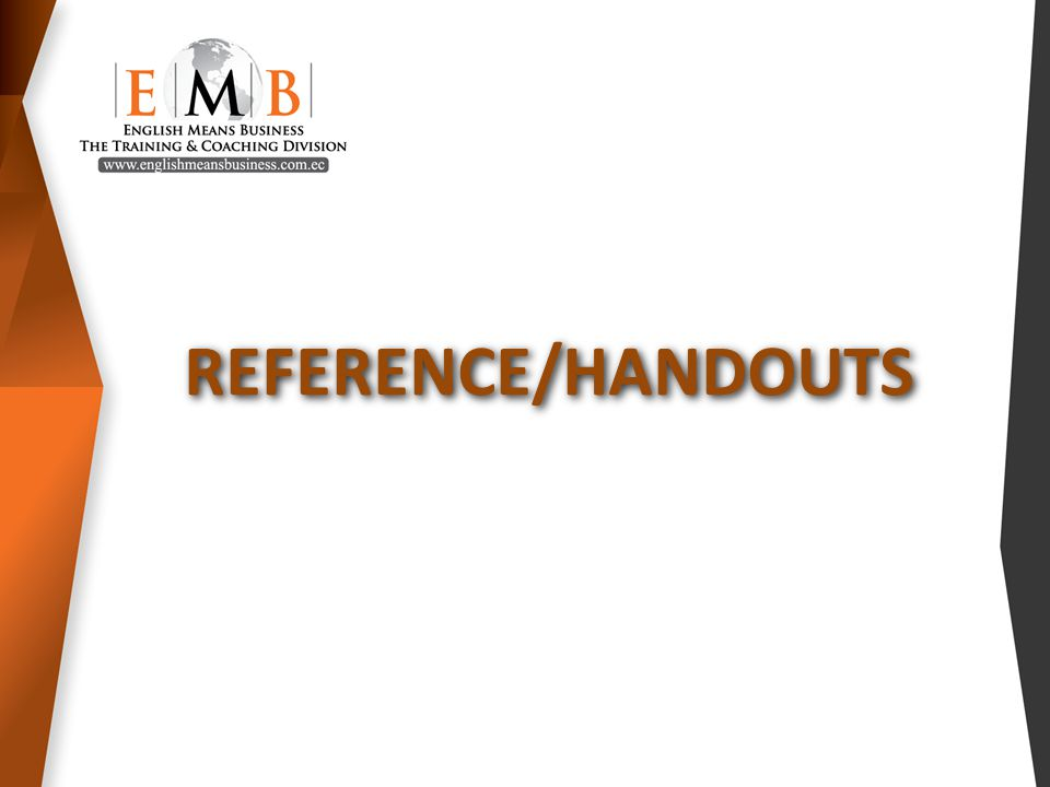 REFERENCE/HANDOUTS