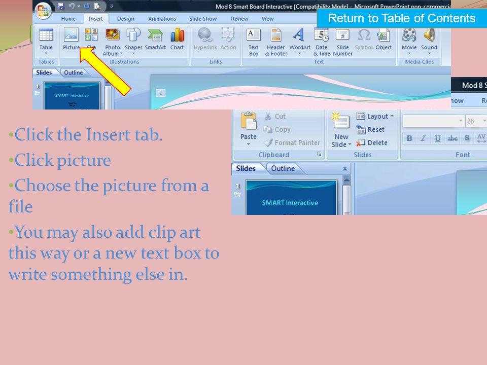 Click the Insert tab.